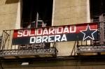 Pancarta. Solidaridad Obrera. 3 jul. 2009. Wikipedia.org. Foto: Gaelx.
