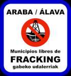 Pegatina. Álava, municipio libre de fracking. 2012. Frackingezaraba.org.