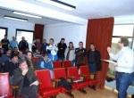 Reunión del portavoz de IU, Carlos Alonso, con los trabajadores de Uminsa. Fabero, 28 enero 2010. Fuente: diariodeleon.es.