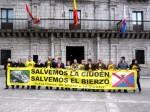 Plataforma de Apoyo a la Ciuden. Ponferrada, 22 abril 2014.  Unecologistaenelbierzo. Foto: Enrique L. Manzano.