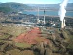 Vista aérea de la central térmica de Cubillos del Sil. 2009.