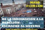 Cartel. Convocatoria 12M 'Toma la plaza! Tomalaplaza.net.