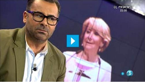 El presentador televisivo Jorge Javier Vázquez discrepa con Esperanza Aguirre sobre los toros.  Fuente: lavozdegalicia.es.
