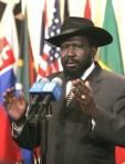 El presidente de Sudán del Sur, Salva Kiir. Nueva York, 10 nov. 2009. Wikipedia.org. Foto: Jenny Rockett.