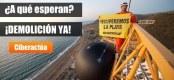 Campaña de Greenpeace para exigir la demolición del hotel de El Algarrobico. 2011. Fuente: greenepeace.org.