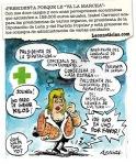 Portada de 'El Jueves'. Dic, 2011. Isabel Carrasco pluriempleada. Fuente: unecologistaenelbierzo.wordpress.com.