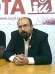 El coordinador provincial de IU, Santiago Ordóñez. 2012. Fuente: IU.