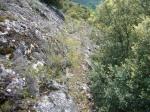 Vestigios del canal romano sobre la Peña del Horno. 2011. Acmuces.blogspot.com.