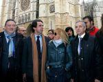 Alfredo Prada, José Mª Aznar, Isabel Carrasco y Emilio Gutiérrez (de izq. a dcha). León, 8 nov. 2011. Fuente: losgenoveses.net.