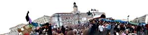 Cabecera de la página web de Acampadasol. Madrid.tomalaplaza.net.