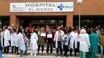 Cadena humana en el Hospital del Bierzo. 22 mayo 2014. Elbierzonoticias.com.