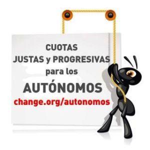 Campaña por una cuota justa y progresiva para los autónomos. Jun. 2014.  Chamge.org.