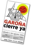 Convocatoria de una marcha contra Garoña. 5 agosto 2006. Celtiberia.net.