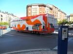El camión de Repsol ocupa todo el carril bici durante días. Ponferrada, 3 jul. 2013. Unecologistaenelbierzo.worpress.com. Enrique L. Manzano.