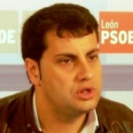 El portavoz del grupo socialista en la Diputación Provincial de León, Iván García del Blanco. 2011. Socialistasxleon.es.