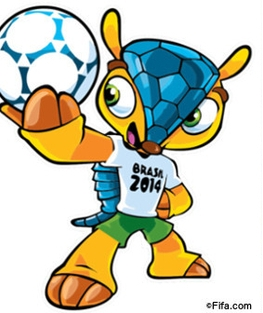 La mascota del Mundial de fútbol de Brasil. jun. 2014. Change.org.