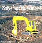 Logo de 'Salvemos Numancia'. 2009. Fuente Unecologistaenelbierzo.wordpress.com.