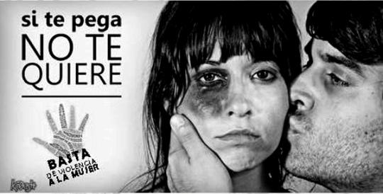 'Si te pega no te quiere'. Fuente: seguridadpublica.es.
