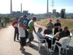 Un piquete de mineros bloquea el acceso a la central térmica de Compostilla. 15 sept.10. Fuente: unecologistaenelbierzo.wordpress.com. Foto: Enrique L. Manzano.