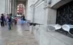 Protesta contra las declaraciones machistas de León de la Riva. Valladolid. 25 agosto 2014. Ultimocero.com.