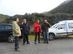 Miembros de 'Salvemos el Río Ancares' y del Comité de Defensa Civil inspeccionan la zona donde se situaría el Salto de Ocedo. 12 nov. 2012. Foto: Enrique L. Manzano.