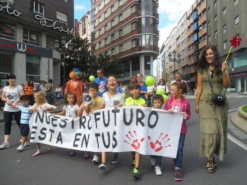 Movilización Climática de los Pueblos. Ponferrada, 21 sept. 2014. Fuente: unecologistaenelbierzo.wordpress.com. Foto: Enrique López Manzano.