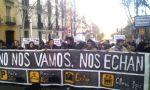 Cabecera de la manifestación 'No nos vamos, nos echan'. Madrid. 7 abril 2013. Fuente: eskup.elpais.com.