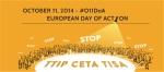 Día de Acción europeo contra el TTIP, CETA y TISA. 11 oct. 2014.