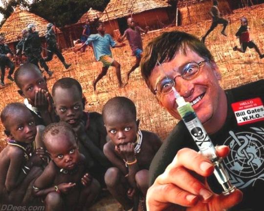 Denuncia 'conspiracionista' del programa eugenésico de Bill Gates. 2014. Fuente: periodismoalternativo.com.
