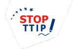 Logo. ¡Stop TTIP! Unecologistaenelbierzo.wordpress.com.