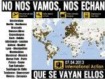 Mapa de la emigración juvenil española. 2013.