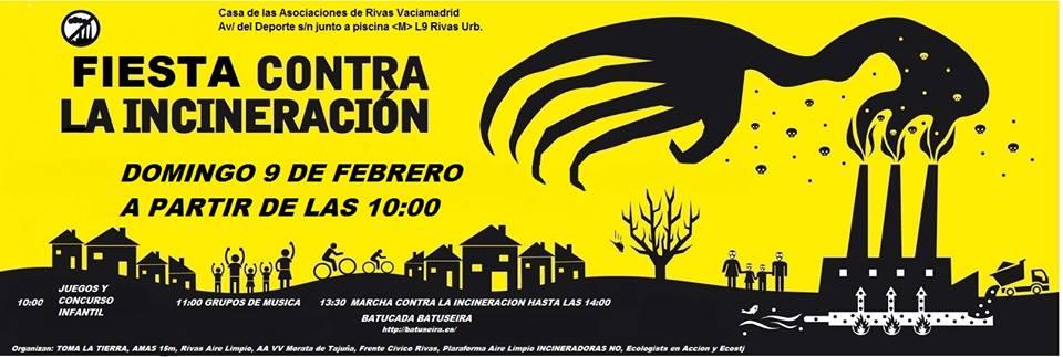 Marcha contra la incineración de residuos en la cementera de Morata de Tajuña. 9 febr. 2013. Madridtomalaplaza.net.