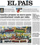 Portada de 'El País'. 22 sept. 2014.