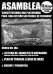 Asamblea constituyente para una gestión sostenible de los residuos. Astorga, 15 oct. 2014.