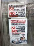 Cartel. Manifestación '¡Sí! San Glorio'. 29 abril 2014.