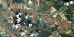Foto aérea general del vertido de lodo tóxico en Hungría. Oct. 2010.