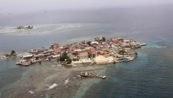 La isla Gartí Sugdup podría quedar prácticamente deshabitada. Panamá. 2014. Nuestro mar.org.