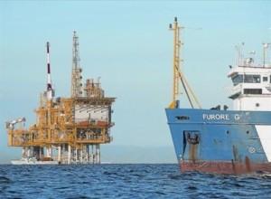 La plataforma del almacén submarino de gas Castor. Fuente: elperiodico.com. Foto: Joan Revilla.