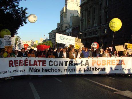 Manifestación de la Alianza Española contra la Pobreza. Madrid, 17 oct. 2012. Facebook.com.