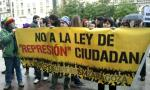 Protesta en Zaragoza contra la Ley Mordaza. 2014. Arainfo.com.