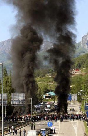Carbón, Una imagen de la protesta minera en Asturias. Jun. 2012. Elpolvorin.over-blog.