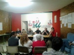 Reunión de IU en Villablino. 2013. Fuente: IU.