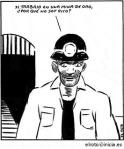 Viñeta. 'Si trabajo en una mina de oro, ¿porqué no soy rico'. Autor: El Roto.