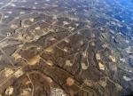 Vista aérea de una explotación de fracking. ¿Es esto lo que queremos? 350.org.