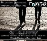 Cartel. ¿Quieres vivir en democracia? Fuente: nosomosdelito.net.