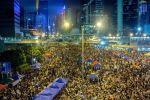 Manifestantes en la Harcourt Road. Hong Kong, 1 octubre 2014.