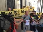 Mesa de la Ría. ¡No a los fosfoyesos! Huelva, 23 oct. 2014.