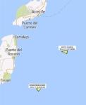 Situación de las zonas de prospección petrolera frente a la costa canaria. 2014. Greenpeace.org.