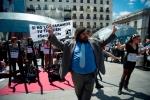 Una protesta de la Plataforma 'No somos delito'. 2014. Fuente: nosomosdelito.net.