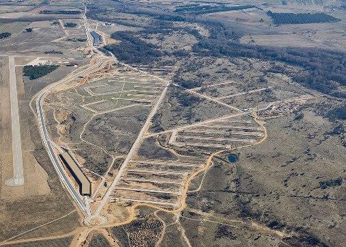 Vista aérea de la Ciudad del Medio Ambiente. Enero 2012. Ciudaddelmedioambiente.org.